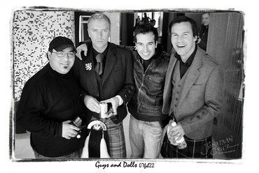 ToninoGuzzo, Justin Ryan, Fabrice Grover, Colin McAlister in the lobby of the Opus Hotel on Friday