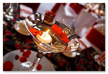 Lisa Gregory wedding decor martini glass