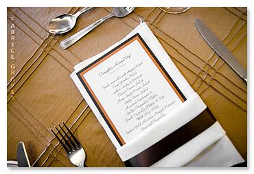Lisa Gregory wedding decor menu