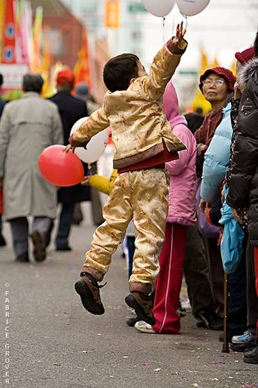 Vancouver Chinese New Year Parade - Boy Jumping