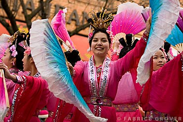 Vancouver Chinese New Year Parade - Young Woman Dancing