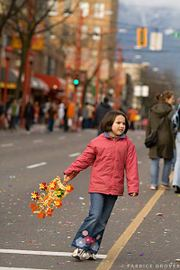 Vancouver Chinese New Year Parade - Girl on Main Street